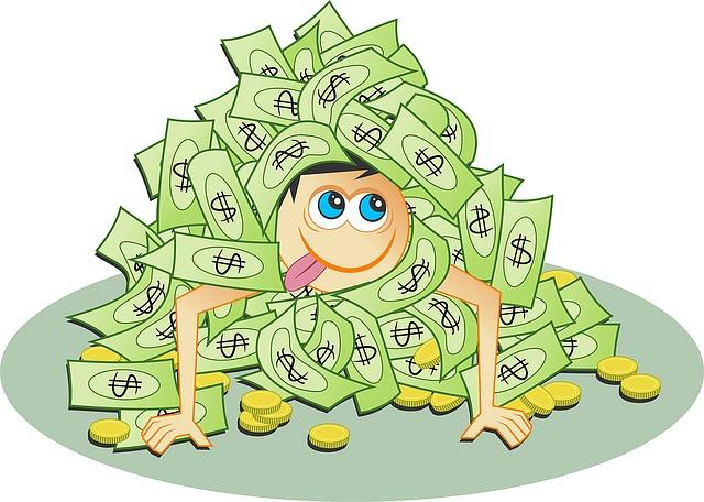 hromádka peněz